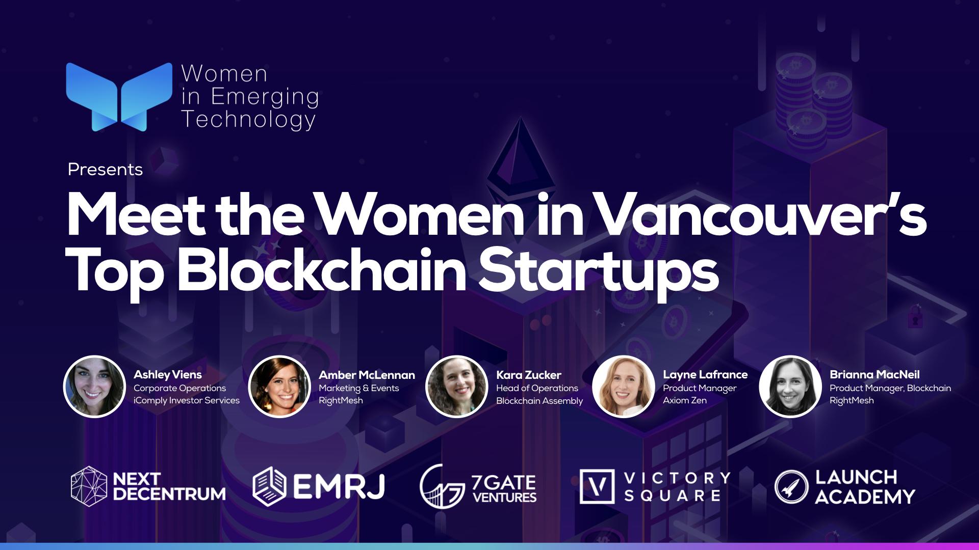 MEET THE WOMEN IN VANCOUVER'S